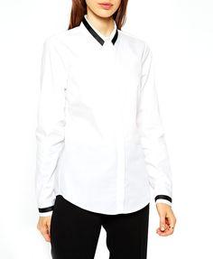 Black Contrast Color Collar