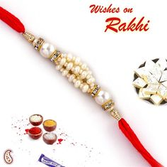 Moti and Stone Raksha bandhan Gift for Your Brother Rakhi for Brother,Rakhi Bracelet,Raksha Bandhan Rakhi,Raksha Bandhan Festival Set of Three Rakhi Multi Color Thread