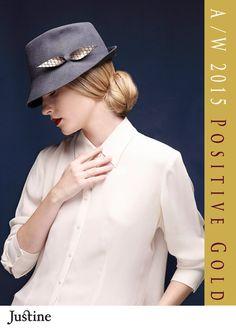 Mens hat / Women hat gray felt winter autum fedora by JustineHats