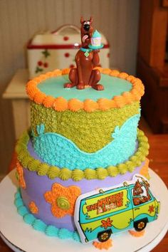 """Scooby Doo Cake! Check out """"Cakes by Julie Brizzee"""" on facebook!"""