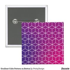 Gradient Cube Pattern on Button