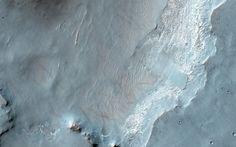 Bedrock Exposures on the Floor of Bakhuysen Crater #amazing