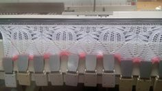 Plenty of even weighting for Janine Pickhover's Frost Flowers lace knitting.