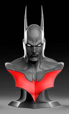 BATMAN BEYOND LIFE SIZE BUST, Caleb Nefzen on ArtStation at https://www.artstation.com/artwork/batman-beyond-life-size-bust