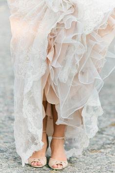 Romantic lace and ruffles | ©Erin McGinn Photography / Newport Wedding