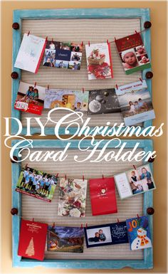 DIY Christmas Card Holder- I am looking for something s little different, but this would work