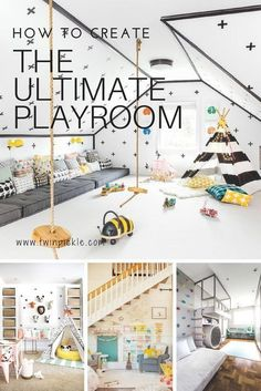 If your little ones are lucky enough to have a play room (or a designated space for toys and activities) there are three key design factors you will want to take into account: toy storage, kids playroom ideas How to Create the Ultimate Playroom Playroom Design, Kids Room Design, Playroom Decor, Kids Decor, Home Decor, Playroom Seating, Decor Ideas, Nursery Decor, Bed Ideas