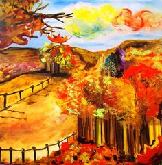 Oil painting by Ioanna Kiriakou, 80x80 cm.