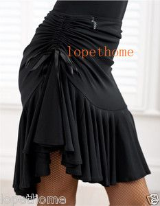 2013 Latin salsa tango rumba Cha cha Ballroom Dance Dress skirt (Black, purple)