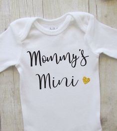 ae6573deb75 Christmas gift for baby - mommys mini - baby girl clothes - baby shower  gift ideas - newborn baby ou