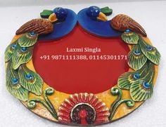 Art N Craft, Craft Stick Crafts, Clay Crafts, Arts And Crafts, Arti Thali Decoration, Kalash Decoration, Mural Painting, Mural Art, Murals