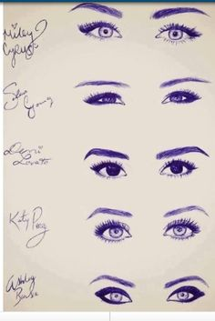Eyes. its so cool how you can tell which ones is whose