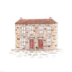 274. Double Door House  | Rebecca Horne, illustration
