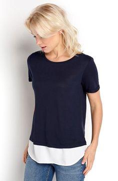 Cool ONLY Bluse Sammi Marine fra Halens ONLY Overdele til Dame i behagelige materialer