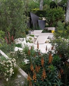 Andy Sturgeon's Best in Show garden for the Telegraph featuring coppery…