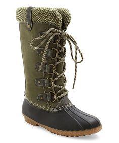 Olive Green Bridget Boot