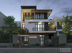 Ideas For Design House Front Modern Architecture Architecture Design, Modern Architecture House, Facade Design, Exterior Design, 3 Storey House Design, Bungalow House Design, House Front Design, Minimalist House Design, Modern House Design