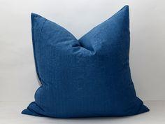 20x20 plain blue ikat pillow cover blue cushion ikat by SilkWay, $21.69