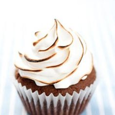 Brownie Cupcakes with Marshmallow Frosting Recipe
