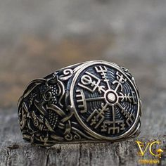 Valknut Odin symbole Viking Slaves World SERPENT Anneau ARGENT Pagan Animal Bijoux