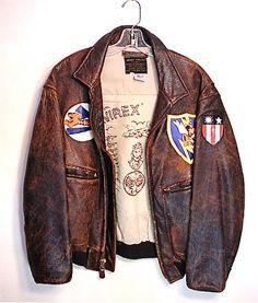 Vintage AVIREX Leather Bomber Jacket