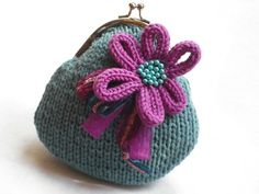 knitted purse £18.00