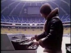 "Emerson, Lake & Palmer performing ""Fanfare for the Common Man,"" Olympic Stadium, Montreal."