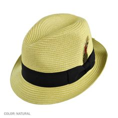 Jaxon Summer Blues Trilby Fedora Hat in Natural