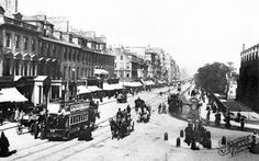 Old photo of Princes Street, West End 1897, Edinburgh