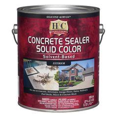 H&C Bombay Solid Concrete Stain (Actual Net Contents: 128-Fl Oz) 10.000054-16