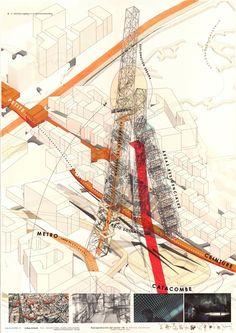 Pr V✏. Nomad Housing suport, vertical city. Montsouris Catacombes Paris, France…