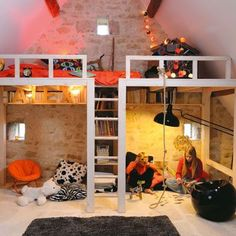 Attic Loft   16 Totally Feasible Loft Beds For Normal Ceiling Heights