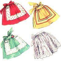 Free easy retro vintage apron sewing patterns