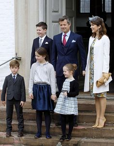 9 April 2017 - Prince Felix of Denmark's confirmation service was attended by Crown Prince Frederik and his wife Crown Princess Mary, with their four children Princess Isabella, Prince Christian and twins Prince Vincent and Princess Josephine.