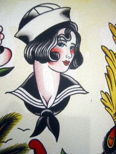 Vintage Tattoo Flash Art 45 by bonniegrrl, via Flickr