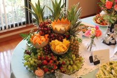 Fruit Cascade with dips .... We have made this for years for every single shower we have thrown!