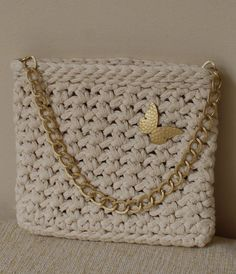 Off-white small bag Little gold chain bag Small by MariliartbyM