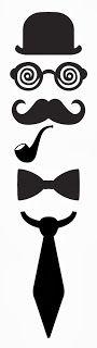 Man - glasses, mustache & ties ~ KLDezign SVG