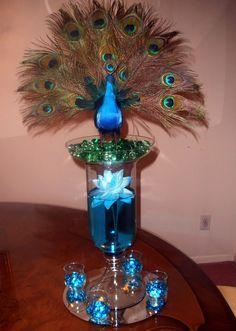 Peacock Center Piece | Raji Creations
