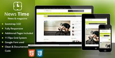 News Time Magazine / Blog HTML Template