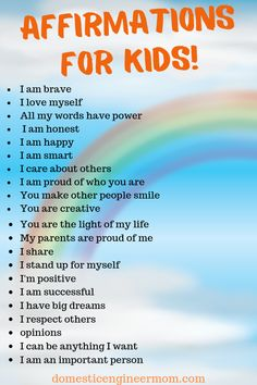 affirmations for kids & affirmations ; affirmations positive law of attraction ; affirmations for kids ; affirmations for men ; affirmations for husband quotes ; affirmations for kids daughters Positive Affirmations For Kids, Affirmations Positives, Daily Affirmations, Christian Affirmations, Positive Words, Gentle Parenting, Parenting Advice, Kids And Parenting, Parenting Quotes