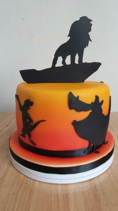 Lion King Sunset and Silhouette cake by Sarahs Cakes by Design.