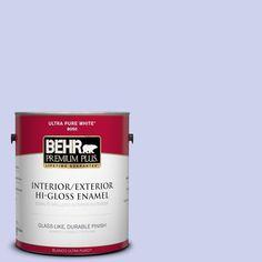 BEHR Premium Plus 1-gal. #P550-2 Artistic Violet Hi-Gloss Enamel Interior/Exterior Paint
