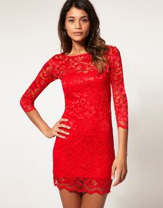 Red lace dress, just like the magazine only this one is only $80 at ASOS.