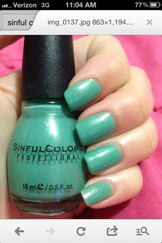 Sinful Colors polish in Mint Apple