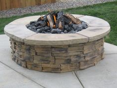 Build this fire pit as a gas fire pit instead of wood-burning using a DIY kit! Easy to use and install! Get it at www.outdoorrooms.com