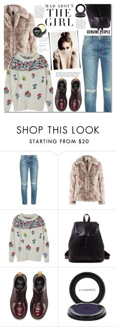 """""""Untitled #1128"""" by mada-malureanu ❤ liked on Polyvore featuring Current/Elliott, Dr. Martens, Kershaw, Garance Doré and MAC Cosmetics"""