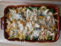 Zapekané cestoviny s brokolicou Lasagna, Quiche, Pasta, Meals, Chicken, Breakfast, Ethnic Recipes, Food, Morning Coffee