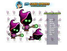 Evil Mage Game Sprites by DionArtworks on Character Illustration, Graphic Illustration, Game Character, Character Design, 2d Character Animation, Presentation Design Template, Shooting Games, Game Assets, Sprites