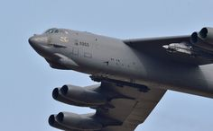 The Boeing Stratofortress is a long-range, subsonic, jet-powered strategic bomber. The giant plane was designed and built by Boeing, which has con Us Air Force, Luftwaffe, Us Bombers, B 52 Stratofortress, Weapon Storage, Storage Facility, Pentagon, Military Aircraft, South Korea
